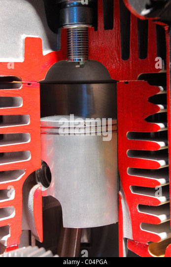 aircraft piston engine - Stock Image