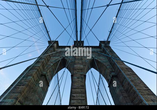 Brooklyn bridge new york - Stock Image