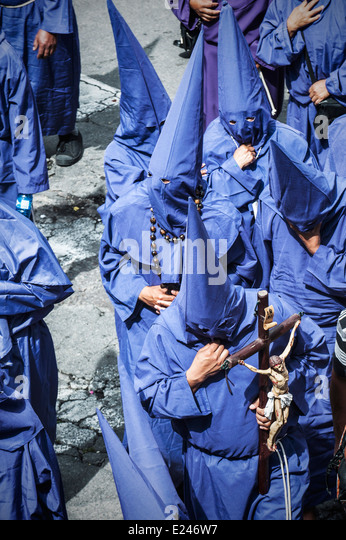 Catholic procession on Good Friday in Quito, Ecuador - Stock Image