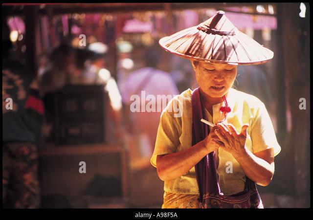 Market Inle Burma Myanmar - Stock-Bilder