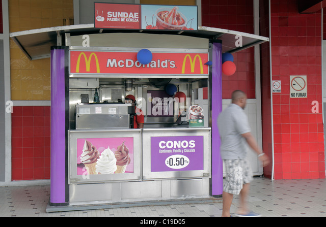 Panama City Panama Bella Vista Via Espana McDonald's fast food restaurant dining business American chain global - Stock Image