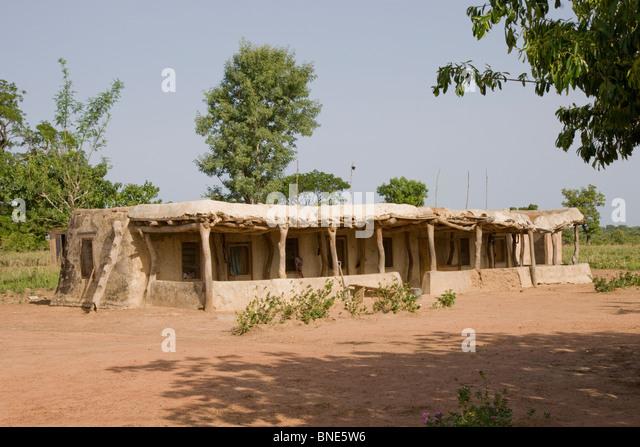 Talawona Lodge, Wechiau Community Hippo Sanctuary, near Wa, Ghana. - Stock Image