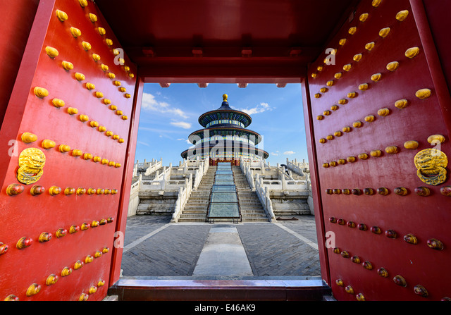 Beijing, China at Temple of Heaven. - Stock Image