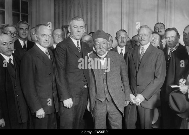 Clemenceau, Pershing and Staford, 1927 - Stock Image