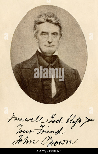 Photograph of John Brown, signed - Stock Image