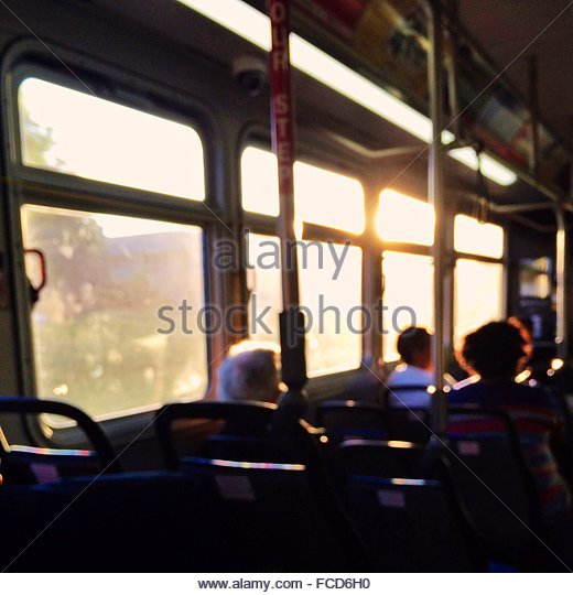 People Traveling In Bus - Stock Image