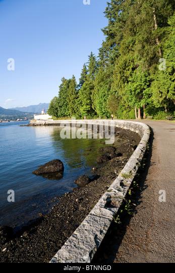 seashore at vancouver bc canada - Stock Image
