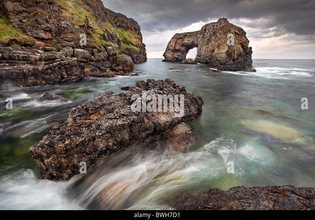 The Great Pollet Arch, Donegal. - Stock Image
