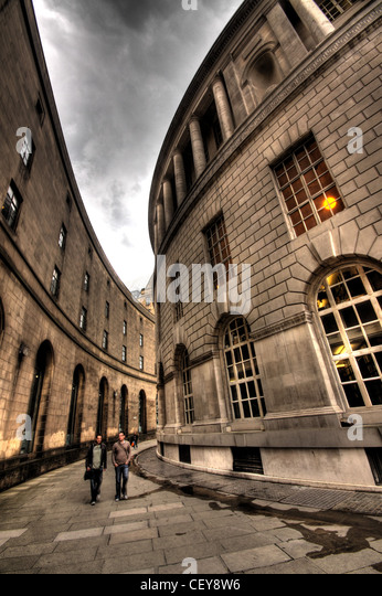 Connecting passage between Central Library and Manchester Town Hall , St Peters Square Manchester M2 5DB - Stock Image