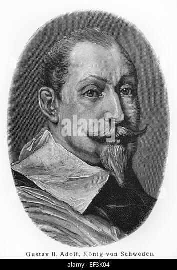 Gustavus Adolphus of Sweden - Stock Image