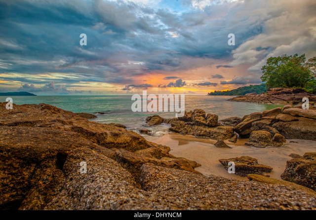 Langkawi sunset - Stock Image