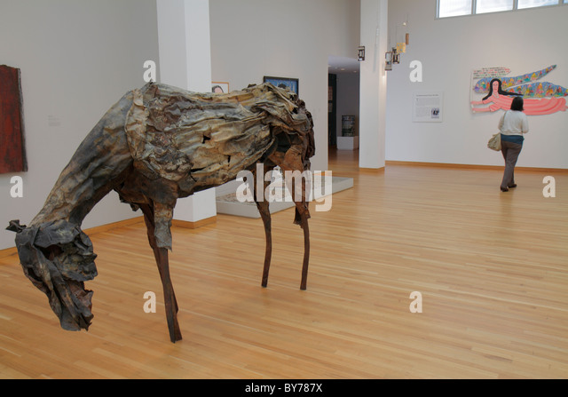 Atlanta Georgia High Museum of Art gallery collection exhibition artwork contemporary horse sculpture Deborah Butterfield - Stock Image