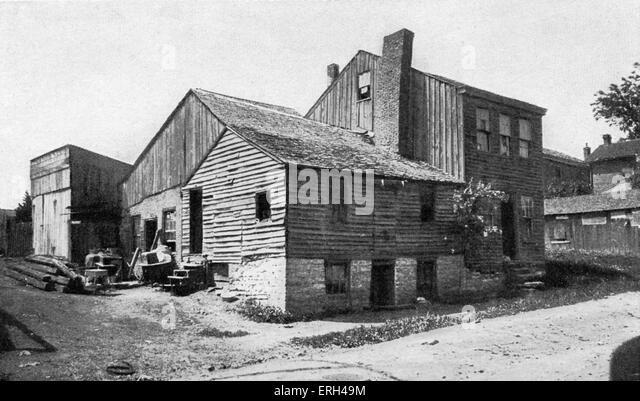 Mark Twain 's Huckleberry Finn 's home c. 1840 - 1850 Mark Twain (pen name for Samuel Langhorne Clemens - Stock-Bilder