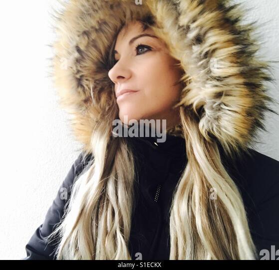 Woman with hat - Stock-Bilder