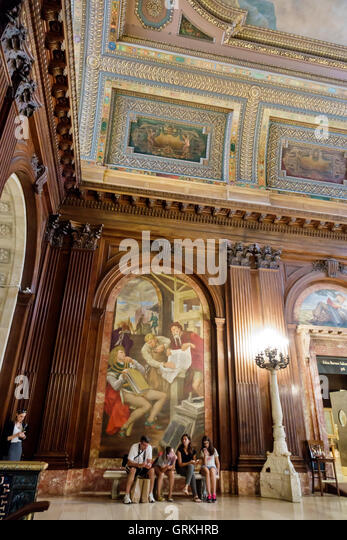 Manhattan New York City NYC NY Midtown New York Public Library Main Branch Stephen Schwarzman Building historic - Stock Image