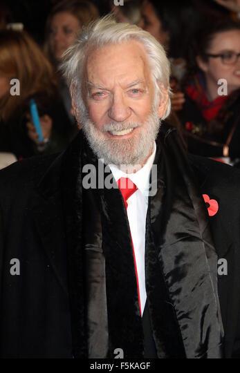 London, UK. 5th November, 2015. Donald Sutherland attending The Hunger Games: Mockingjay Part 2 - UK Premiere at - Stock Image