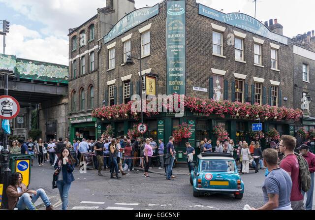The Market Porter Pub near Bourogh Market , London Bridge Quarter, - Stock Image