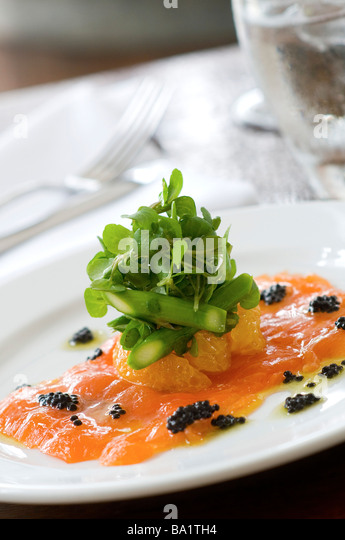 Salmon entree - Stock Image