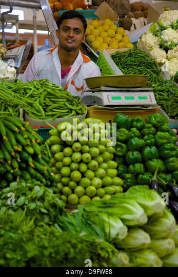 Vegetable and Meat Market, Al Ain, Abu Dhabi, United Arab Emirates, Middle East - Stock Image