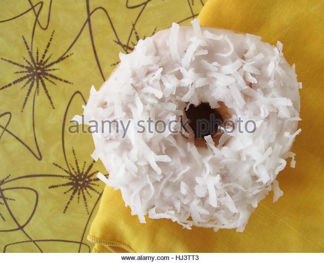 coconut donut - Stock-Bilder