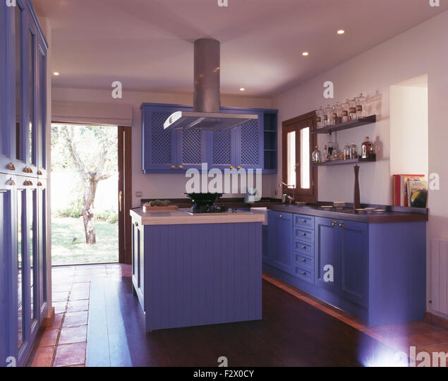 Modern kitchen in spanish villa stock photos modern for Kitchen units spain