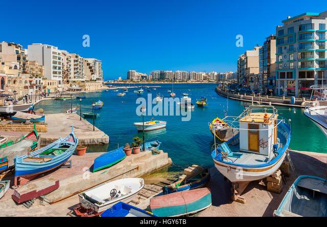 St. Julian's Bay Malta - Stock Image