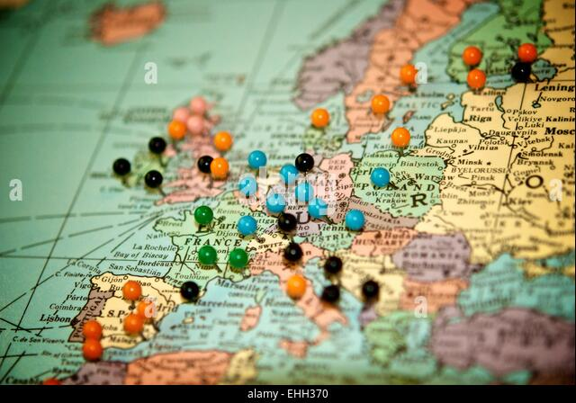Map Pins Photos and Map Pins Images Alamy – Map With Pins For World Travel