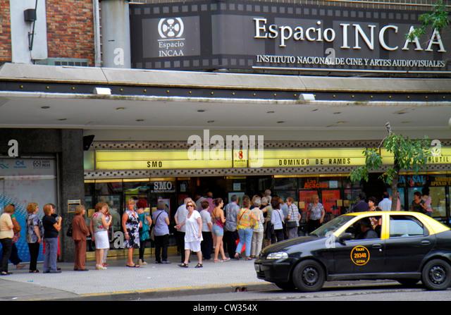 Buenos Aires Argentina Avenida Rivadavia Instituto Nacional De Cine Y Artes Audiovisuales INCAA cinema movie theater - Stock Image