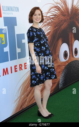 New York, NY, USA. 25th June, 2016. Ellie Kemper at arrivals for THE SECRET LIFE OF PETS Premiere, David H. Koch - Stock Image
