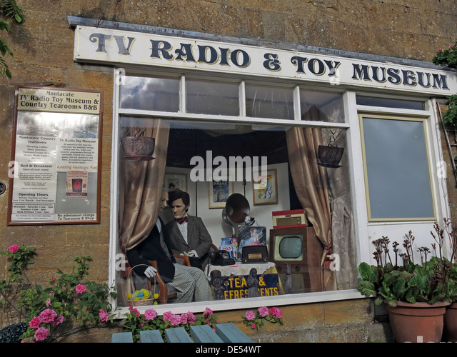 TV Radio & Toy Museum, Montecute Village, south Somerset,England, UK - Stock Image