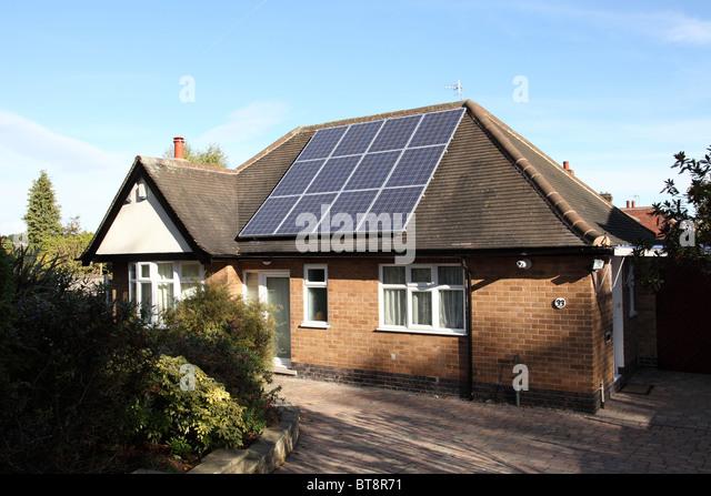 Solar Panel Houses Uk Stock Photos Amp Solar Panel Houses Uk