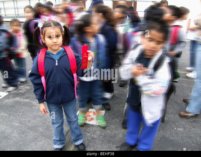 Female student wearing backpack - Stock-Bilder