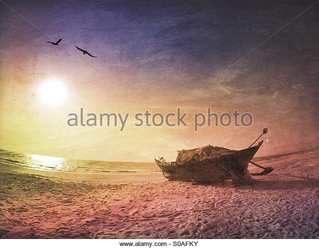 Fishing boat Goa India - Stock Image