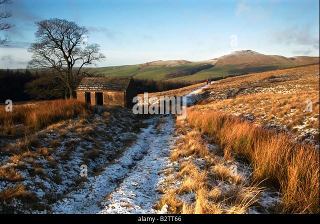 Shutlinsloe In Winter Wildboarclough Cheshire, Peak District National Park UK - Stock Image