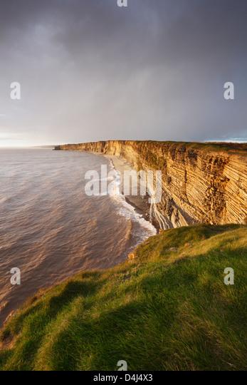 Glamorgan Heritage Coast from Nash Point. Vale of Glamorgan. Wales. UK. - Stock Image