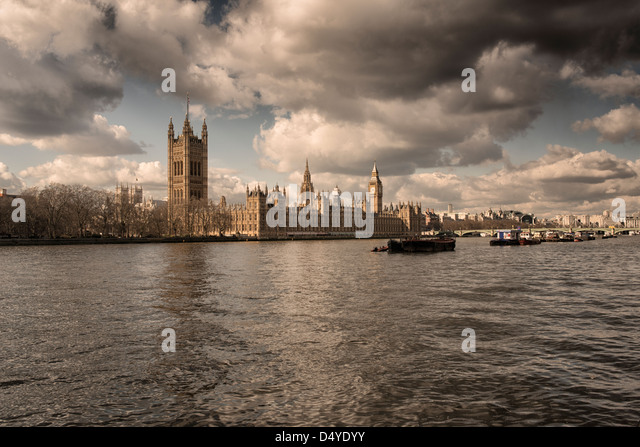 The House of Parliament on the river Thames,London,England - Stock Image