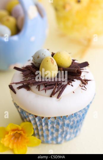 Easter cupcake - Stock Image