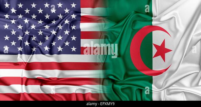 USA and Algeria - Stock Image
