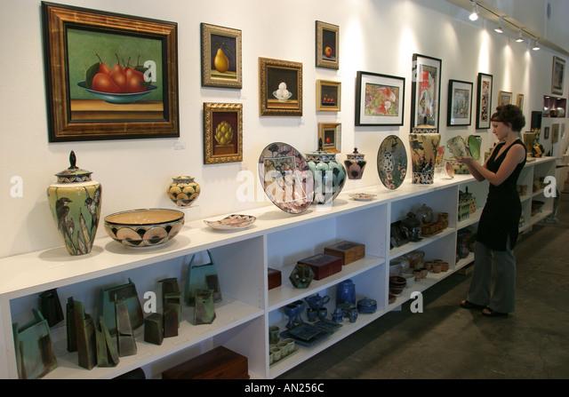 New Mexico Albuquerque Knob Hill Center Mariposa Gallery New Mexico W - Stock Image