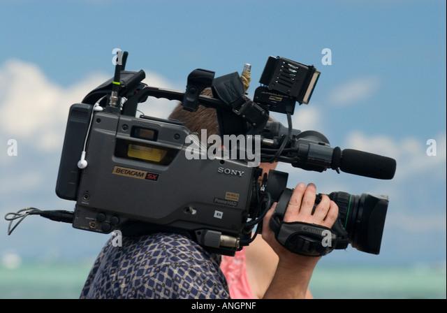 Videographer & Camera - Stock-Bilder