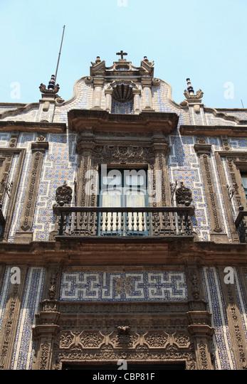 Mexico house tile stock photos mexico house tile stock for Casa de los azulejos puebla