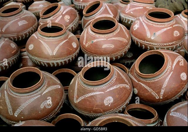 Earthen pots - Stock Image