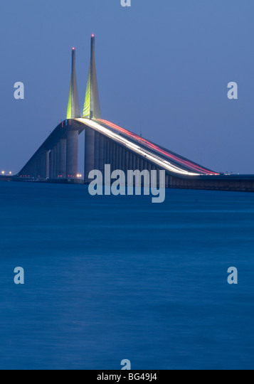 Sunshine Skyway Bridge, Tampa Bay, Saint Petersburg, Florida - Stock-Bilder