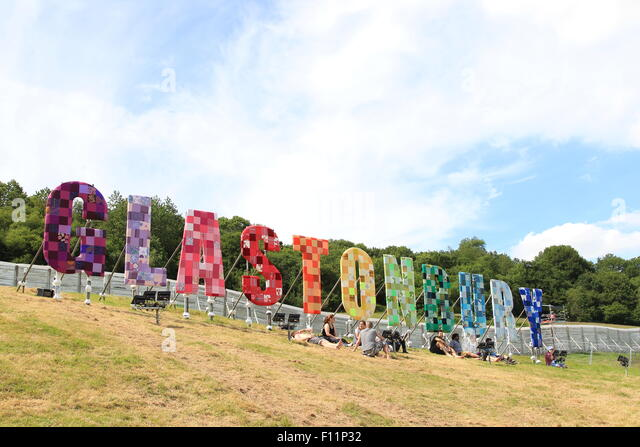 Glastonbury Festival 2015 - Day 1 - Atmosphere  Featuring: Atmosphere Where: Somerset, United Kingdom When: 24 Jun - Stock Image