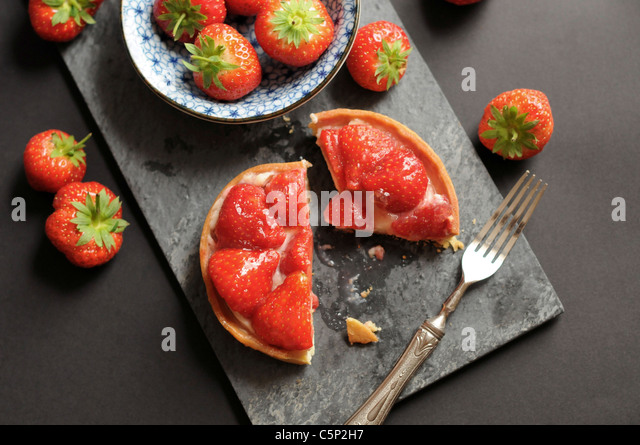 Little strawberry tart - Stock Image