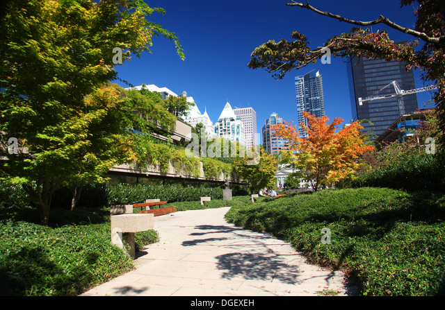 Robson Square in downtown Vancouver, Canada - Stock Image
