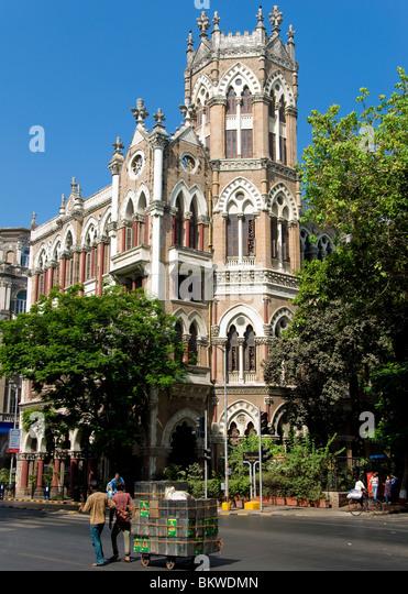 Colonial Building Mumbai, Bombay, India - Stock Image