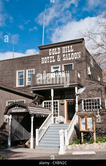 Gold Hill Hotel and Saloon, Nevada's oldest hotel dating from 1859, Virginia City, Nevada, United States of - Stock-Bilder