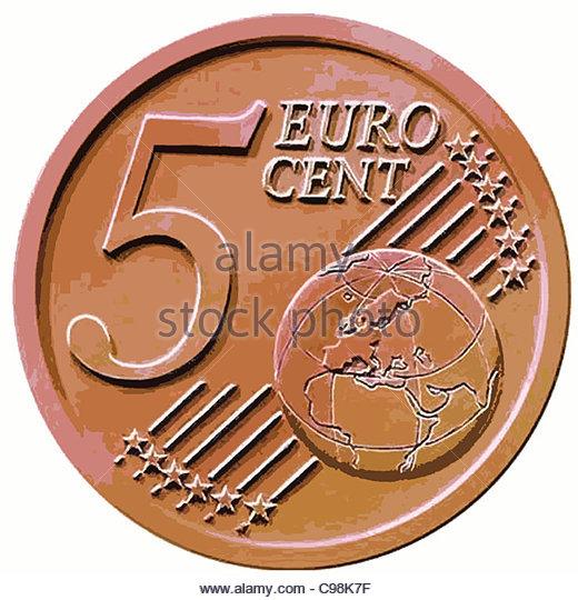 5 Cent artistic - Stock-Bilder
