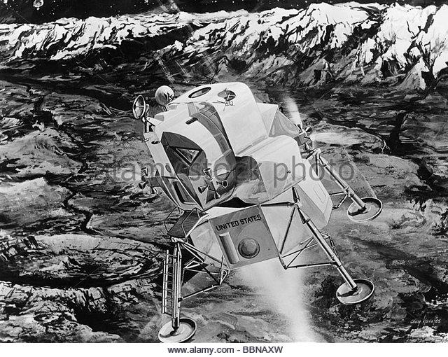 Lunar Module Landing Stock Photos & Lunar Module Landing ...